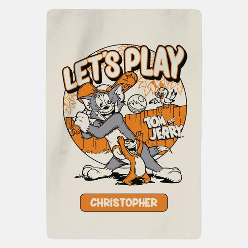 Personalised Tom and Jerry™ Personalised Blanket - Lets Play.
