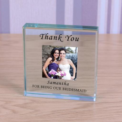 Personalised Glass Token - Bridesmaid